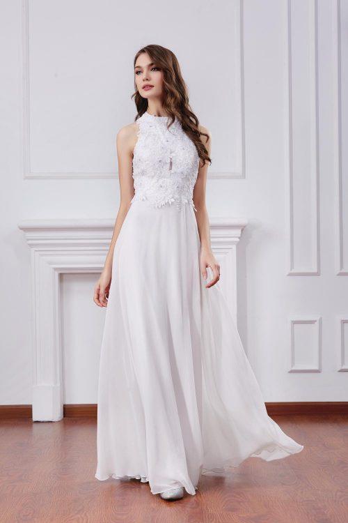 robe de soirée à emmanchure américaine
